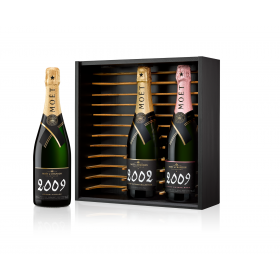Moët Grand Vintage Collection Wooden Case 2009 Blanc - 2009 Rosé - 2002 Blanc