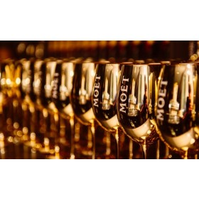 2 x Moët Imperial Gold Glas - Limited Edition