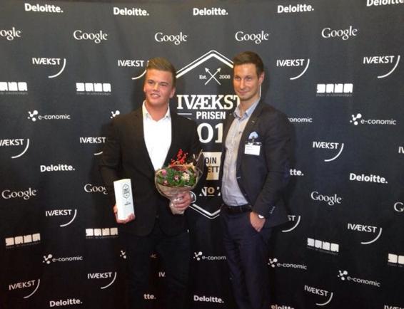 Søren Bælum og Christian Koldt til Ivækstprisen 2014